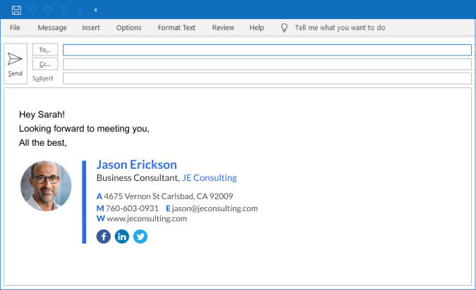 how to add email signature to outlook