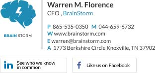 Corporate Email Signature for cfo