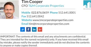 cfo Company Email signature template