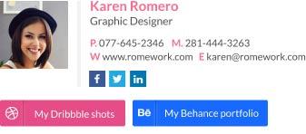 creative email signature designer template
