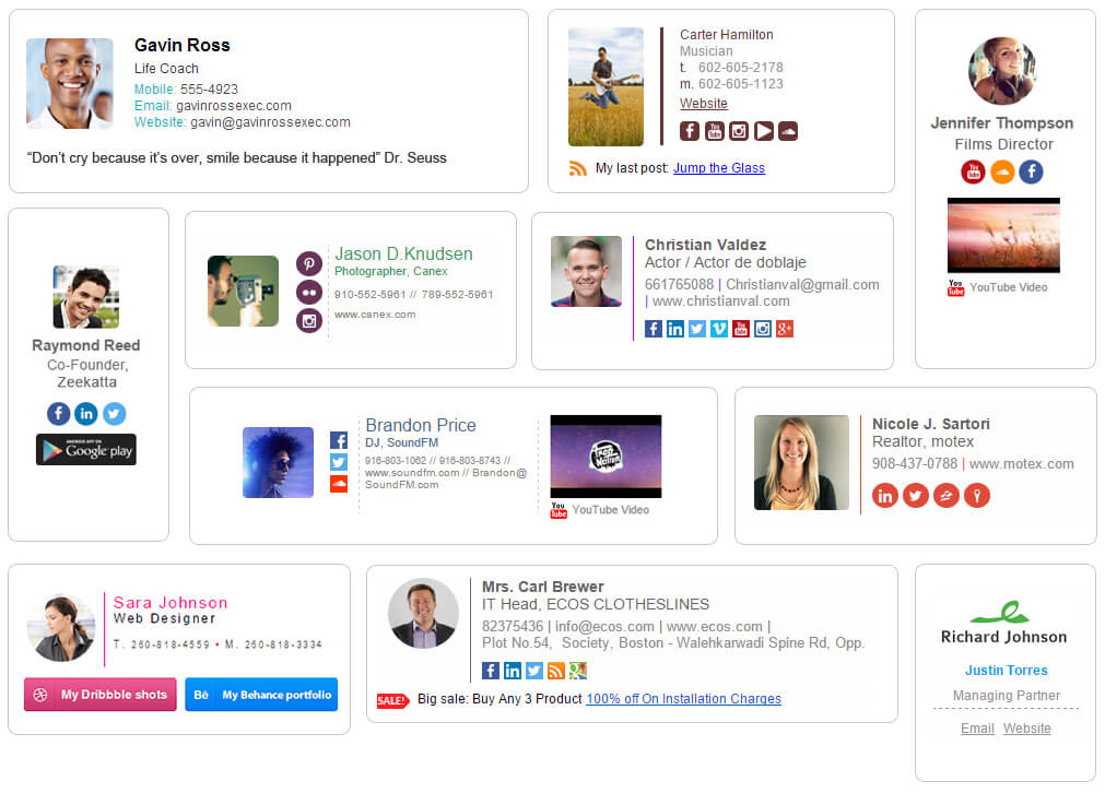 email signature collage wisestamp