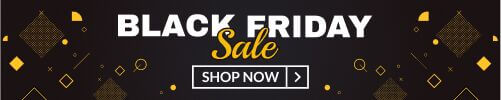 Free banner for Black Friday dark