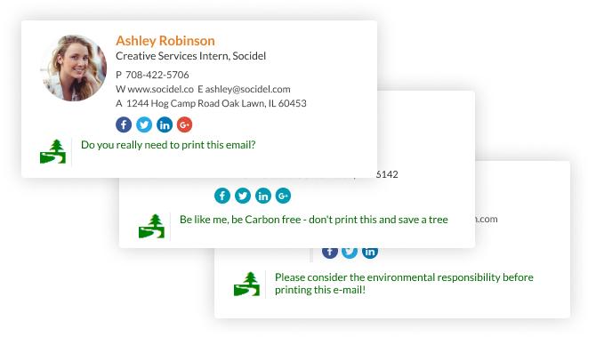 ecological awareness email signature