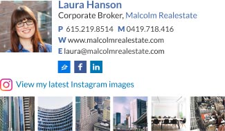 Personal Email Signature Examples - Realtor [Instagram]