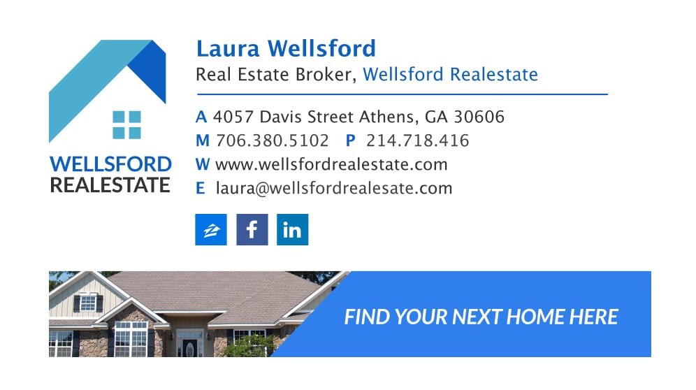 realtor email signature