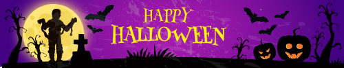 vcool email signature banner for Halloween