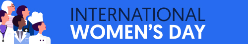 women's day email signature banner